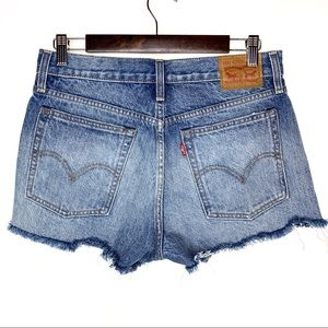 Levi's VINTAGE Button Fly High Rise Raw Hem Shorts